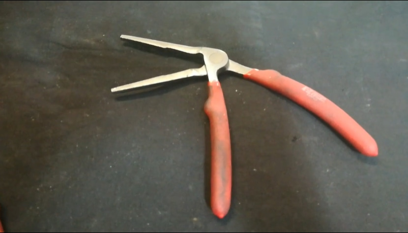 angled long nosed pliers