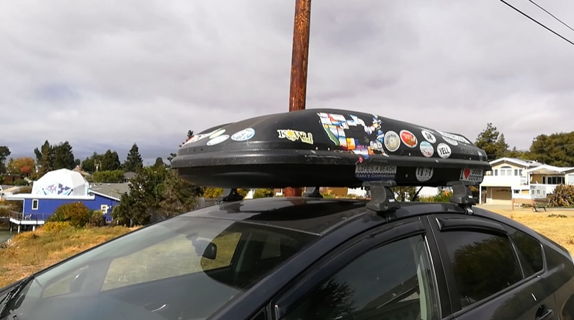 Thule box on Toyota Prius